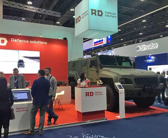 IDEX 2017: Remdizel apresenta o veiculo blindado tipo MRAP KAMAZ-53949 Typhoon 4×4 ao mercado externo