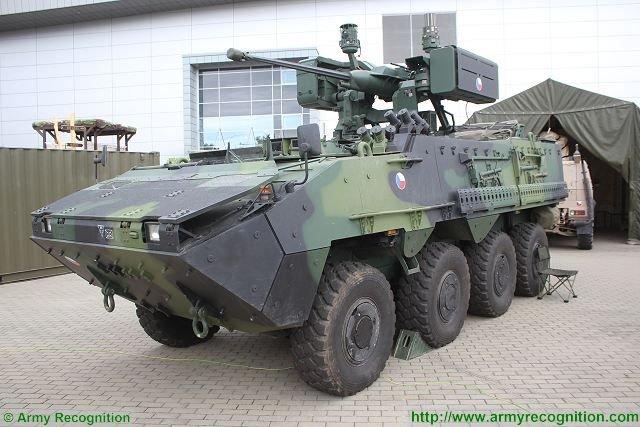 MERCADO DE BLINDADOS: República Checa anuncia a aquisição de mais unidades do veiculo blindado 8×8 Pandur II