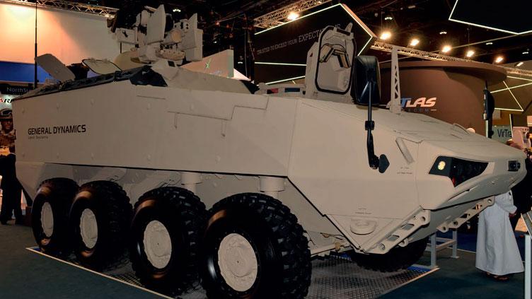 IDEX 2017:  General Dynamics apresenta seu mais novo veículo blindado 8×8 LAV-700