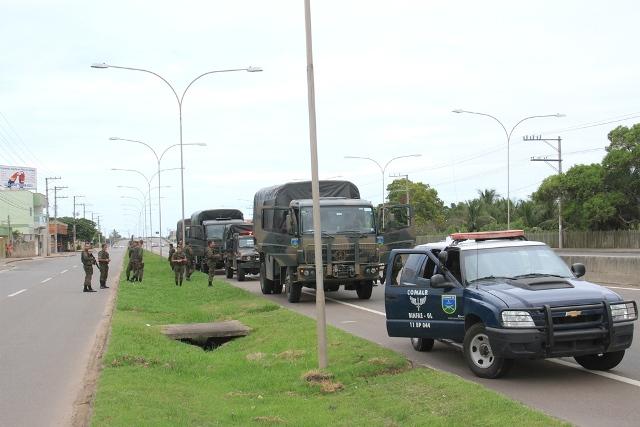 FAB PÉ DE POEIRA: Infantaria da Aeronáutica participa da Operação Capixaba