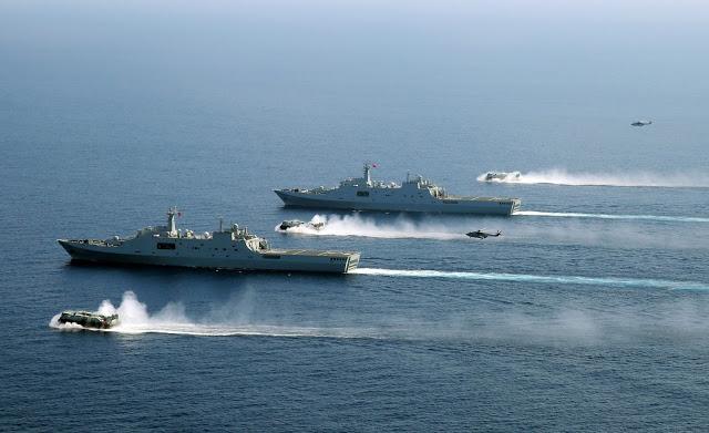 China Realiza Grande Exercício de Assalto Anfíbio.