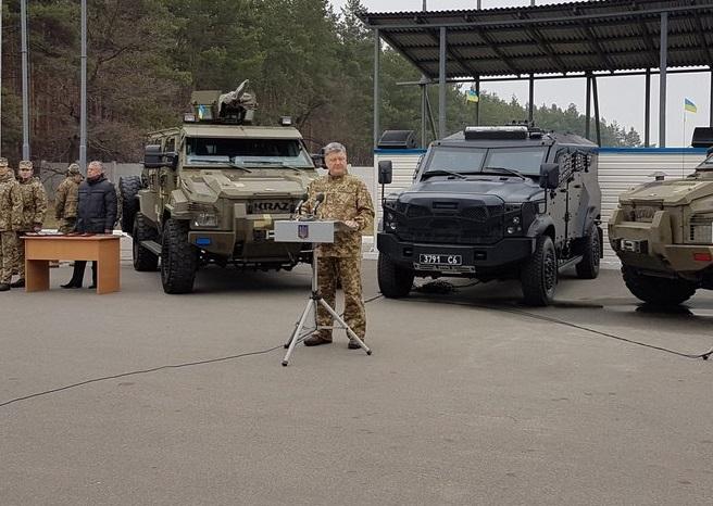 Ucrânia:  Serviço de Segurança Interna recebe veículo blindado 4×4 SandCat da empresa israelense Plasan
