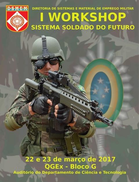 """EXÉRCITO BRASILEIRO: 1º WORKSHOP SOBRE O """"SISTEMA SOLDADO DO FUTURO"""""""
