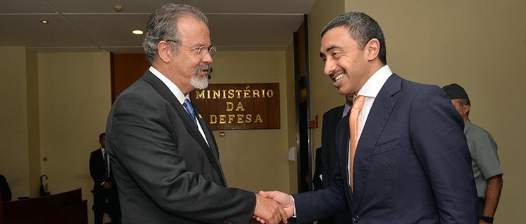 Ministro Jungmann recebe ministro dos Negócios Estrangeiros dos Emirados Árabes