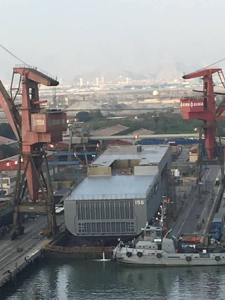 Primeiro Makassar peruano será lançado ao mar esta tarde, após três anos de construção, mas aprontamento para o início das provas de mar só acontecerá no fim de 2018