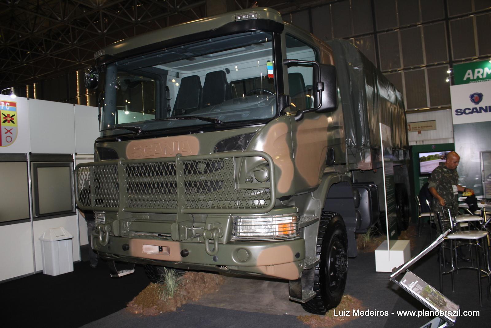 LAAD 2017: Scania apresenta ao mercado de defesa o caminhão P 360 6×6