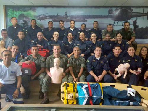 ADSUMUS: 1º Batalhão de Operações Ribeirinhas (1ºBtlOpRib) e  Policlínica Naval de Manaus (PNMa) realizam curso de suporte básico de vida