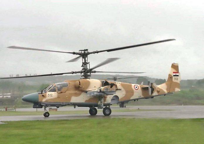 Primeira imagem do Ka-52 Alligator da Força Aérea Egípcia