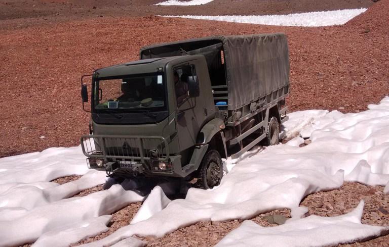 Exército  Argentino testa  caminhão 4×4 Agrale Marrua AM-41 em condições extremas