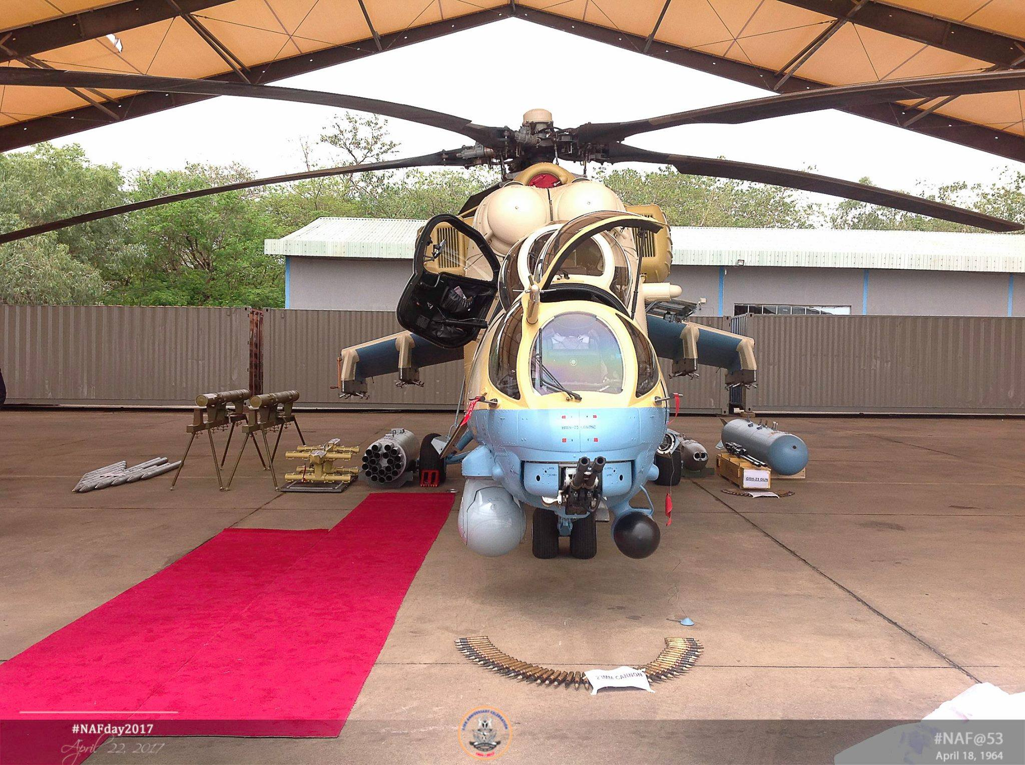 Rússia fornecerá 10 helicópteros Mi-35M para a Nigéria em 2018