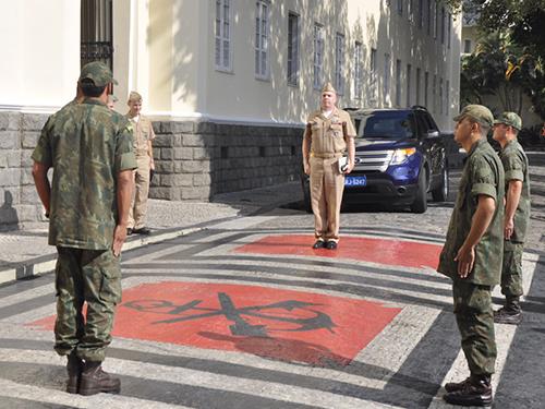 ADSUMUS: Comando-Geral do Corpo de Fuzileiros Navais (CGCFN) recebe visita de Oficial de Ligação Militar dos EUA