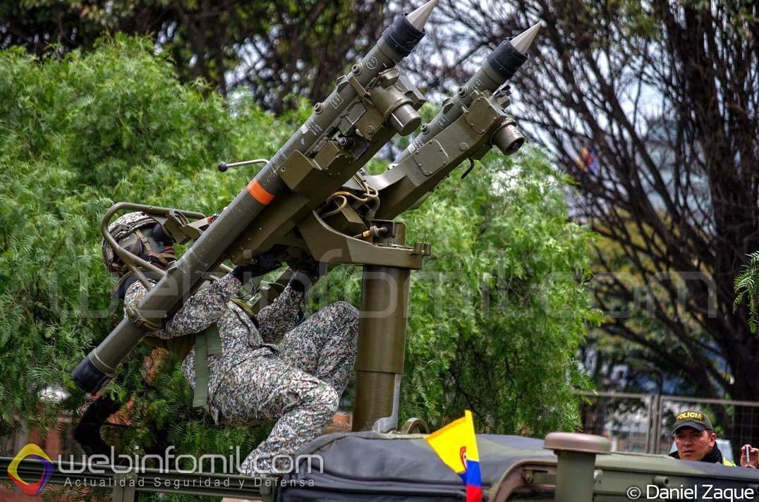 Defesa Antiaérea no Desembarque! Fuzileiros Navais colombianos apresentam lançador duplo de mísseis Mistral montado sobre o teto de um Humvee