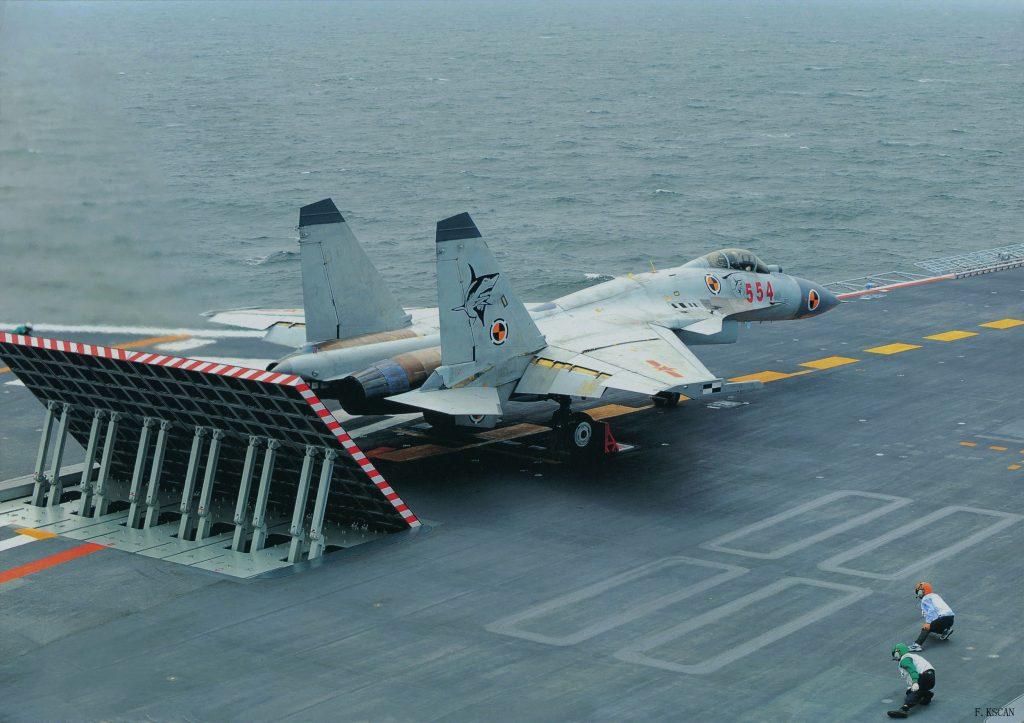 VÍDEO: Operações aéreas no porta aviões 'Liaoning' da Marinha Chinesa