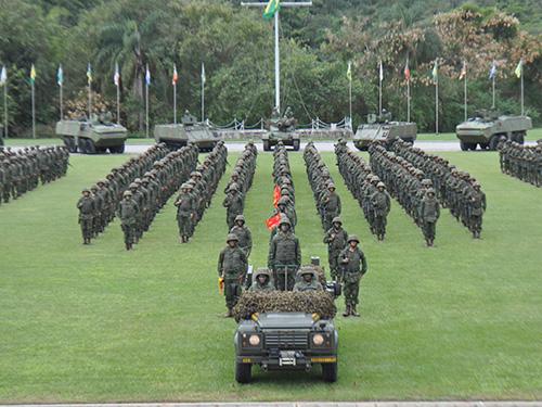 ADSUMUS: Comando-Geral do Corpo de Fuzileiros Navais (CGCFN) realiza desfile de unidade anfíbia em homenagem ao Chefe de Estado-Maior da Armada