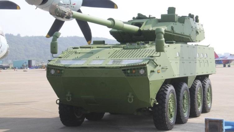 Norinco apresenta nova variante do veículo 8×8 VP-10 equipado com canhão 105mm
