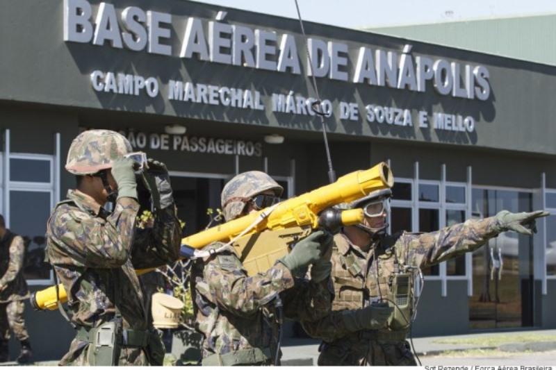 FAB PÉ DE POEIRA: 3° Grupo de Defesa Antiaérea (Grupo Defensor) recebe visita de Alunos da Escola de Artilharia de Costa e Antiaérea (EsACosAAe) do Exército