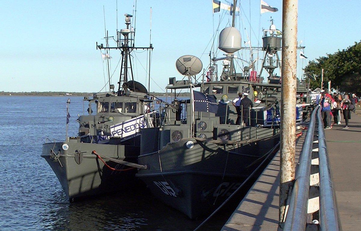 GALERIA: Veja as imagens dos navios da Flotilha de Mato Grosso chegando à Argentina para a Operação ACRUX VIII