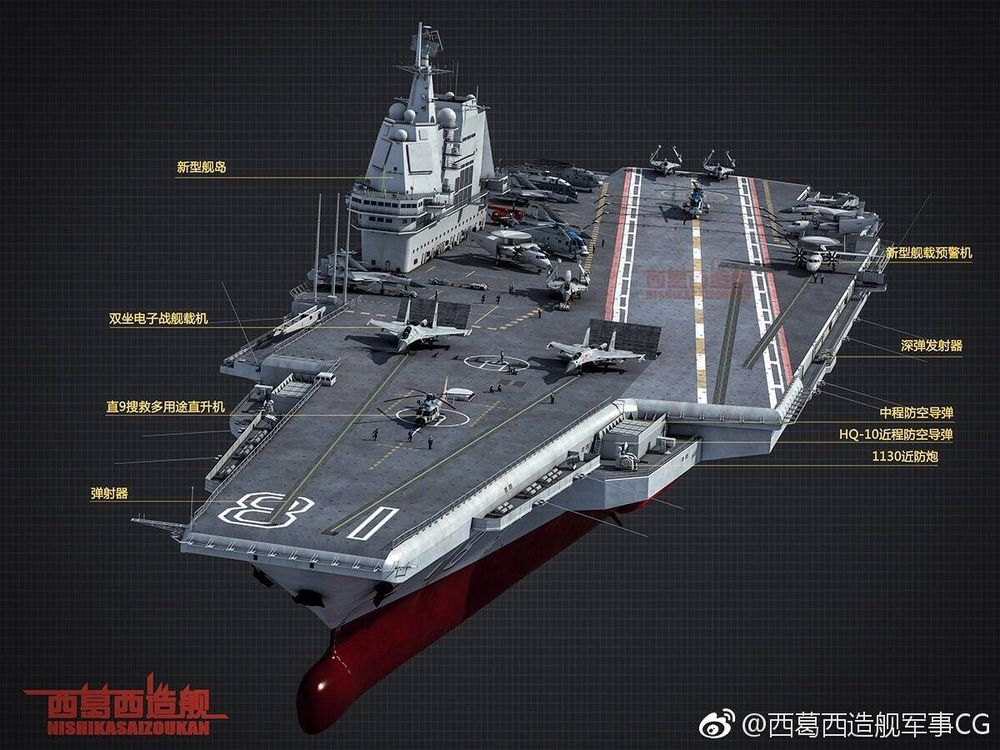 """""""Digam olá para o primeiro Porta Aviões equipado com catapulta da China."""""""