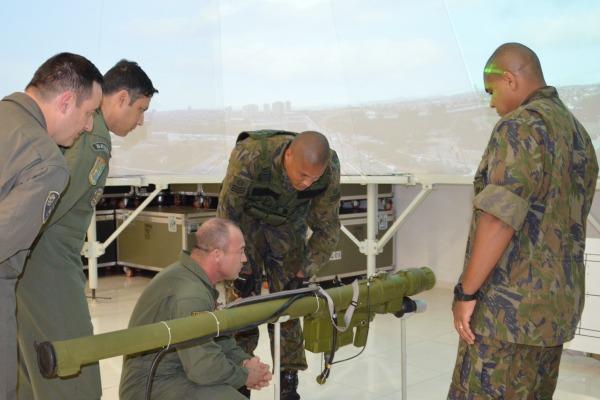 FAB PÉ DE POEIRA: 3° Grupo de Defesa Antiaérea (Grupo Defensor) recebe visita de alunos do Curso Avançado de Aviação (CAAV) do Centro de Instrução de Aviação do Exército (CIAvEx)