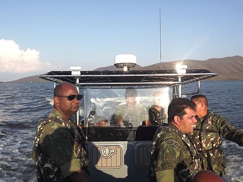 ADSUMUS: Grupamento de Fuzileiros Navais de Ladário (GptFNLa) realiza Patrulhamento Fluvial