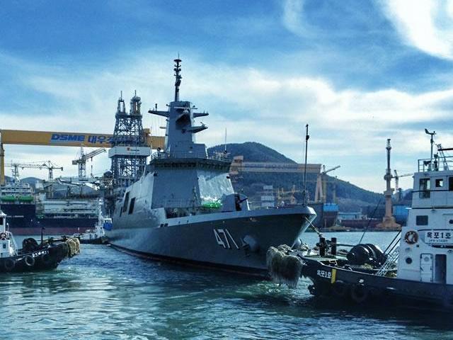NAVIOS ASIÁTICOS! Estaleiro sul-coreano pediu 410 milhões de dólares pela fragata de 3.650 toneladas que entregará à Marinha da Tailândia