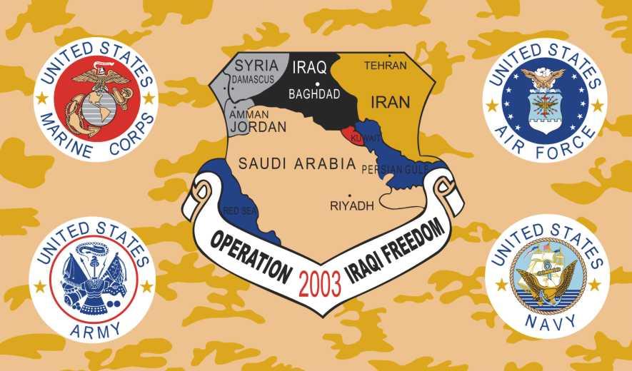 """Plano Brasil/OIF-2003/História Contemporânea/Análise: """"MB integrou, 'por breve período de tempo', a 'Coalizão de Boa Vontade' (Forças Armadas Americanas e Aliadas)na 'Operation Iraqi Freedom (OIF-2003)'"""""""