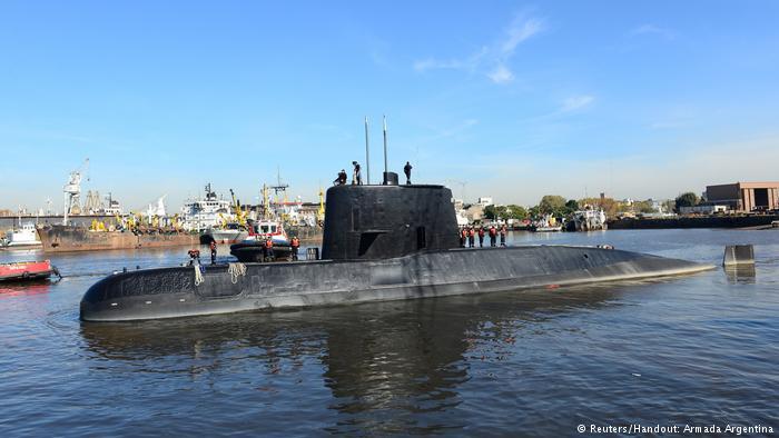 Empresas alemãs sob suspeita em caso de submarino argentino