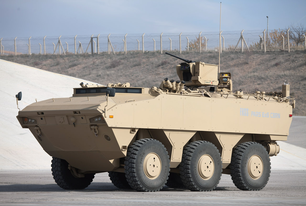 Conheça o FNSS Savunma PARS 6X6. O leopardo Turco.