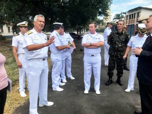ADSUMUS: Futuras instalações do Grupamento de Fuzileiros Navais de São Paulo (GptFNSP) são apresentadas ao Comando Geral
