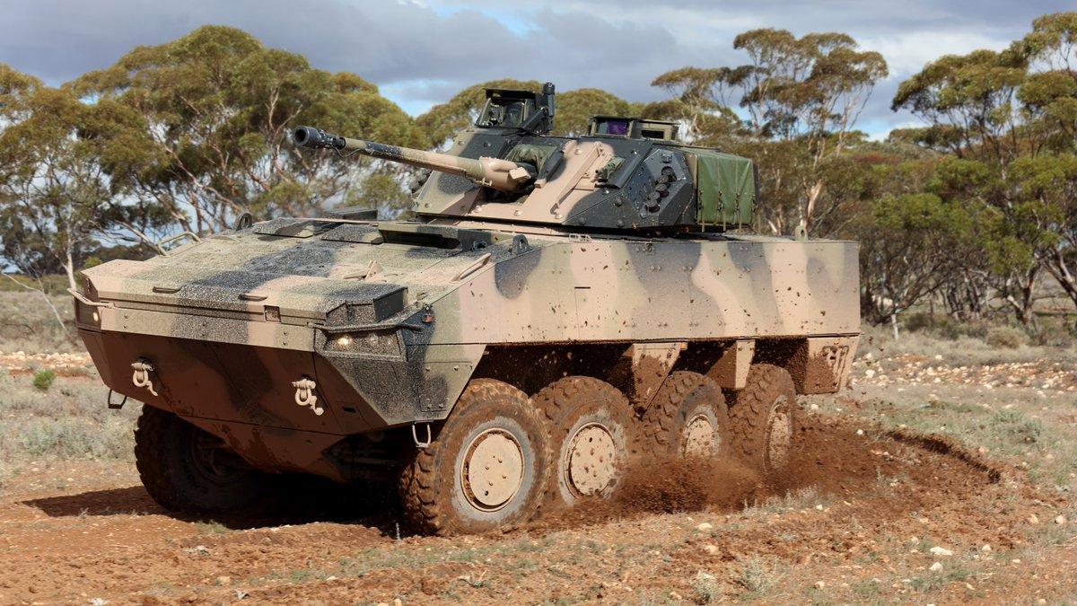 Austrália: Transferência de tecnologia para veículos blindados AMV35 8×8