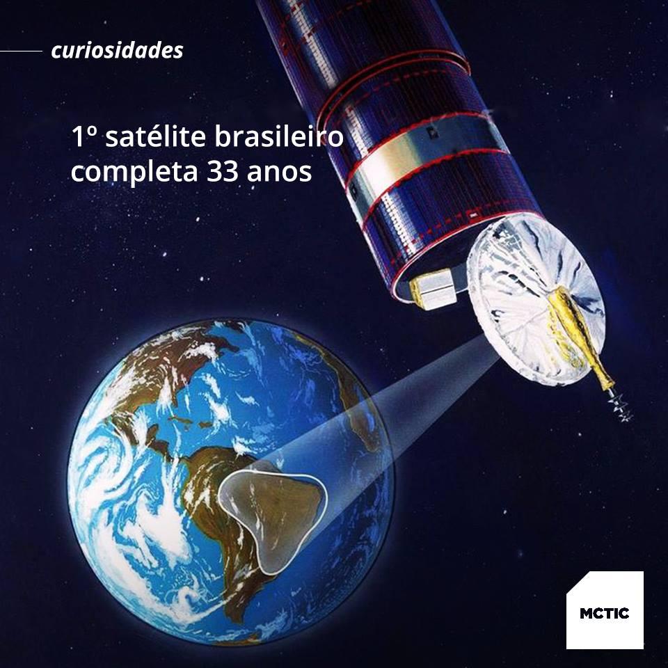 Lançamento do Primeiro Satélite Brasileiro completa 33 anos.