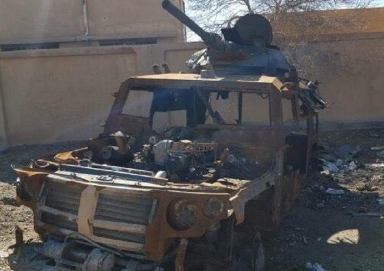 Veículo blindado Gaz Tigr é destruído na Síria