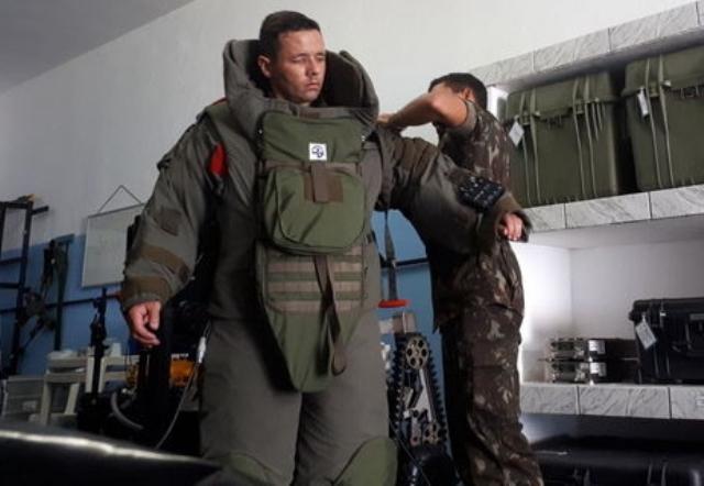 Rumo à transformação da Força, militares se capacitam em Desminagem e Desativação de Artefatos Explosivos.