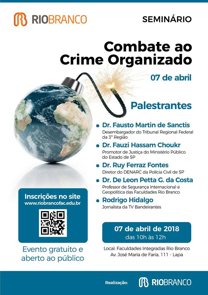 Eventos: SEMINÁRIO COMBATE AO CRIME ORGANIZADO
