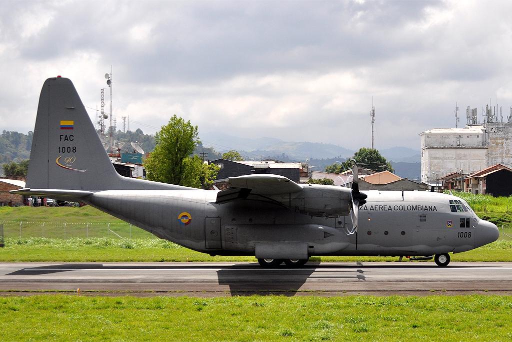 Força Aérea Colombiana solicita  três aeronaves  C-130H Hércules ao governo dos EUA
