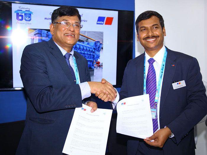 Estaleiro indiano de Goa irá fabricar motores MTU da Série 8000