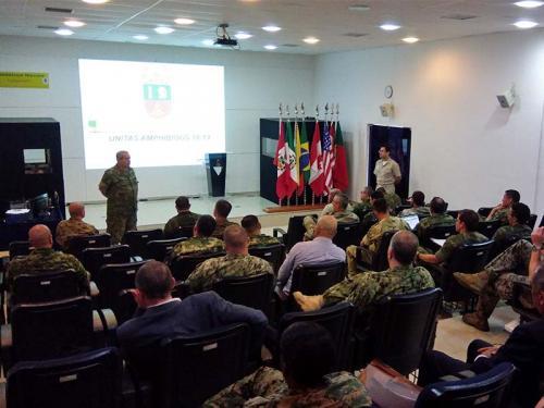 ADSUMUS: Força de Fuzileiros da Esquadra recebe comitivas estrangeiras para planejamento da Unitas Amphibious