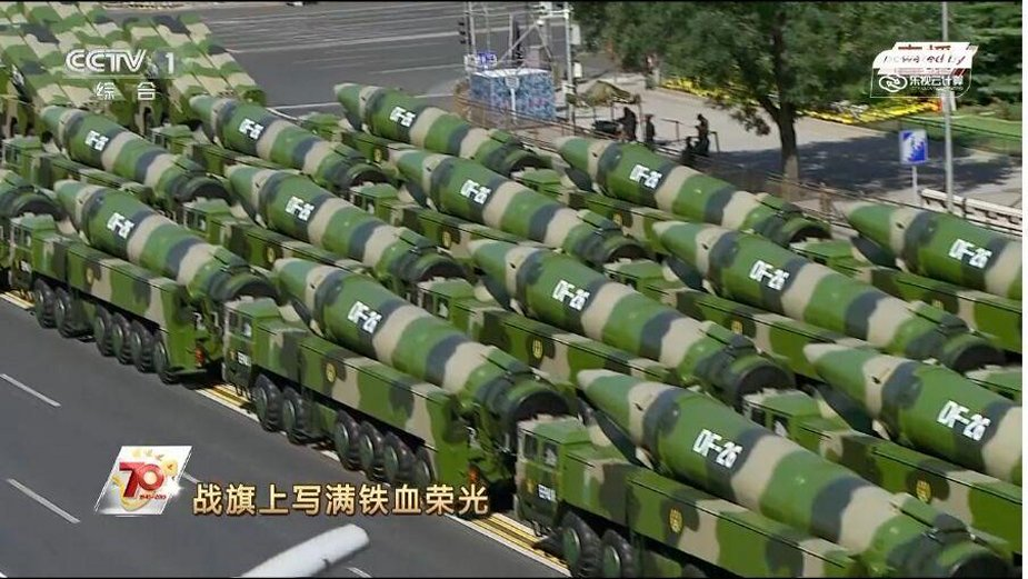 China encomenda Mísseis balísticos  Dongfeng-26
