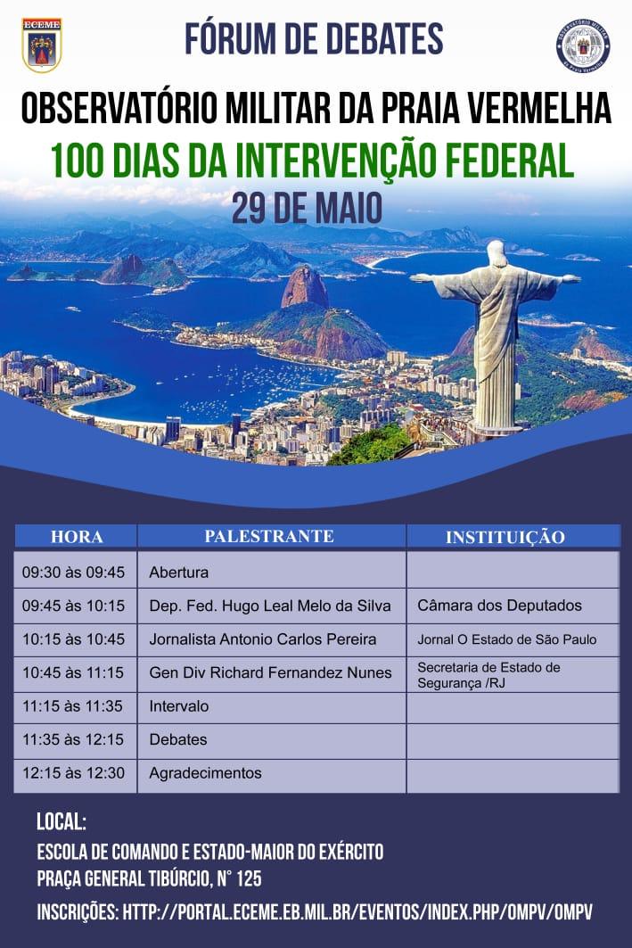 Fórum sobre a Segurança Pública do Rio de Janeiro - 100 dias da Intervenção Federal