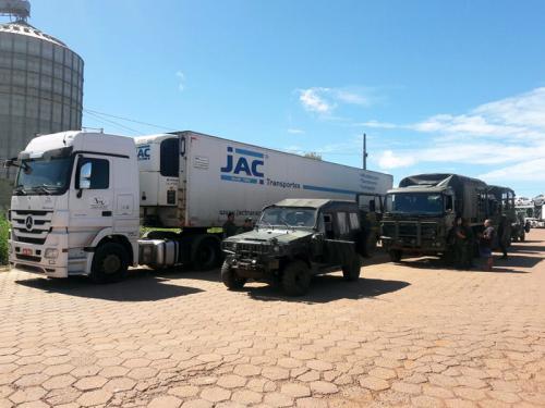 ADSUMUS:  2º Batalhão de Operações Ribeirinhas (2°BtlOpRib) realiza escolta de caminhão de carga no Pará