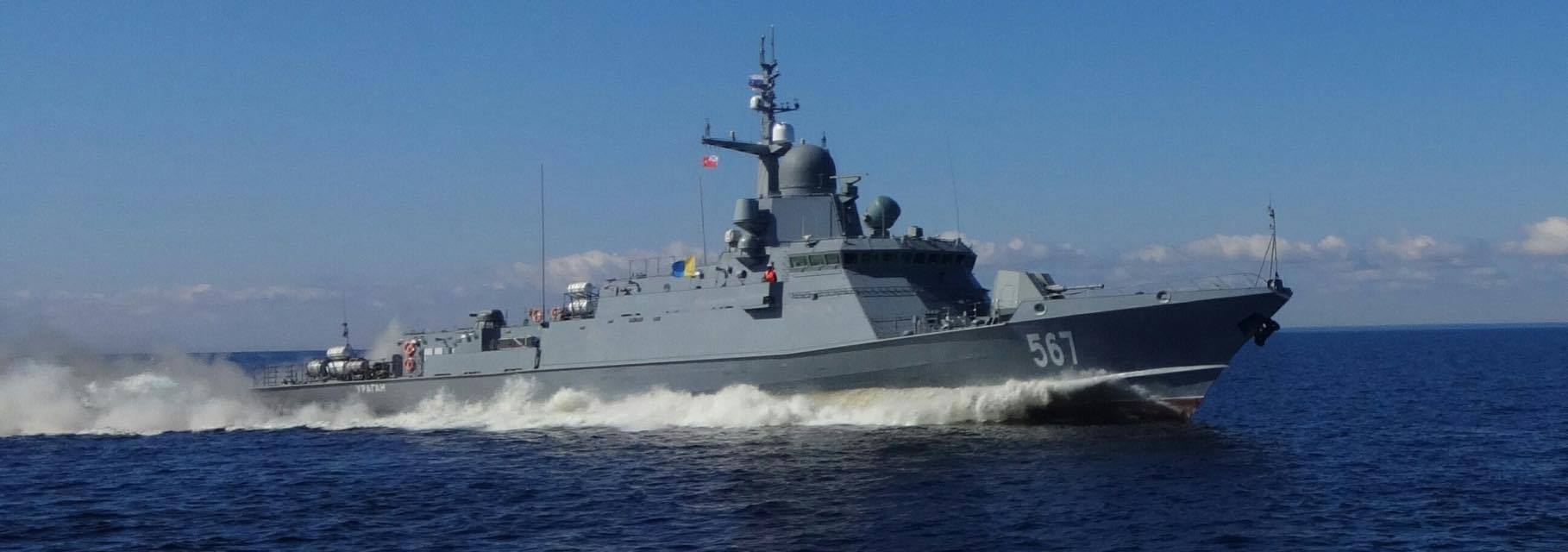 Corveta project 22800 Uragan, realiza testes no lago Ladoga