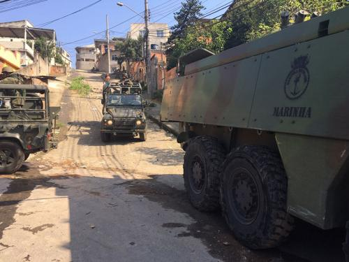 ADSUMUS: Grupamento Operativo de Fuzileiros Navais atua em operação em comunidades da Zona Norte do Rio de Janeiro-RJ