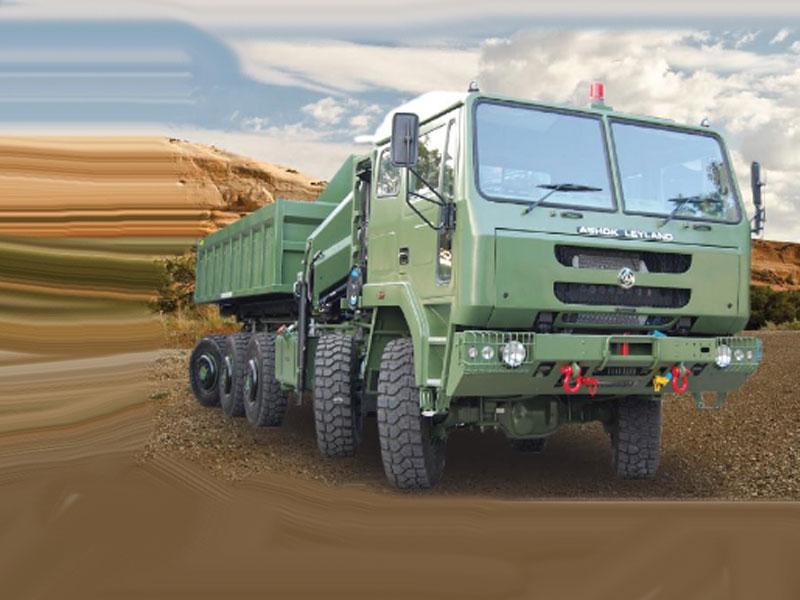Exército indiano recebe novos veículos Ashok Leyland 10x10 Super Stallion
