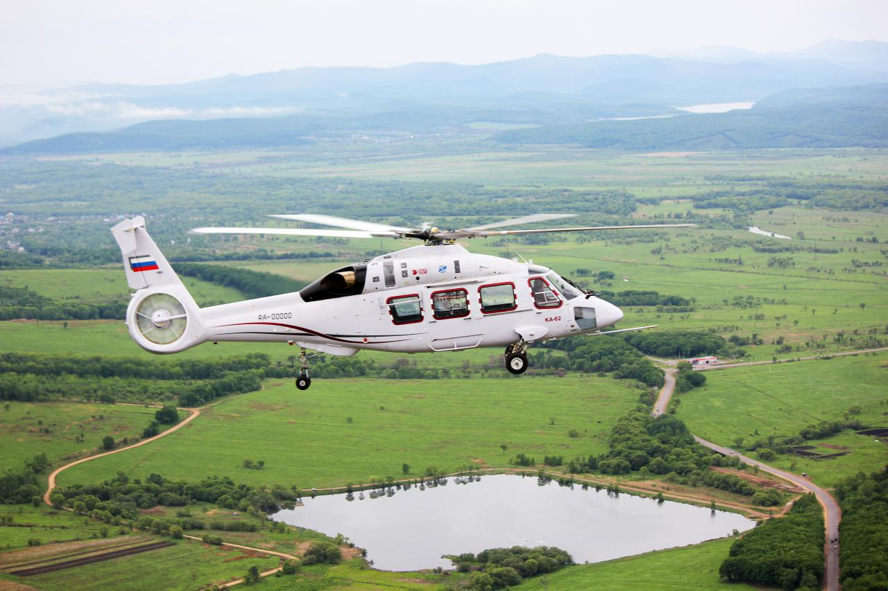 Russian Helicopters prepara testes de voo do Ka-62