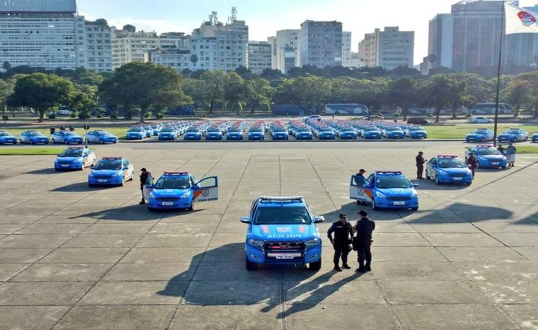 Segurança Pública:  Polícia Militar do Estado do Rio de Janeiro recebe  segundo lote de 265 viaturas