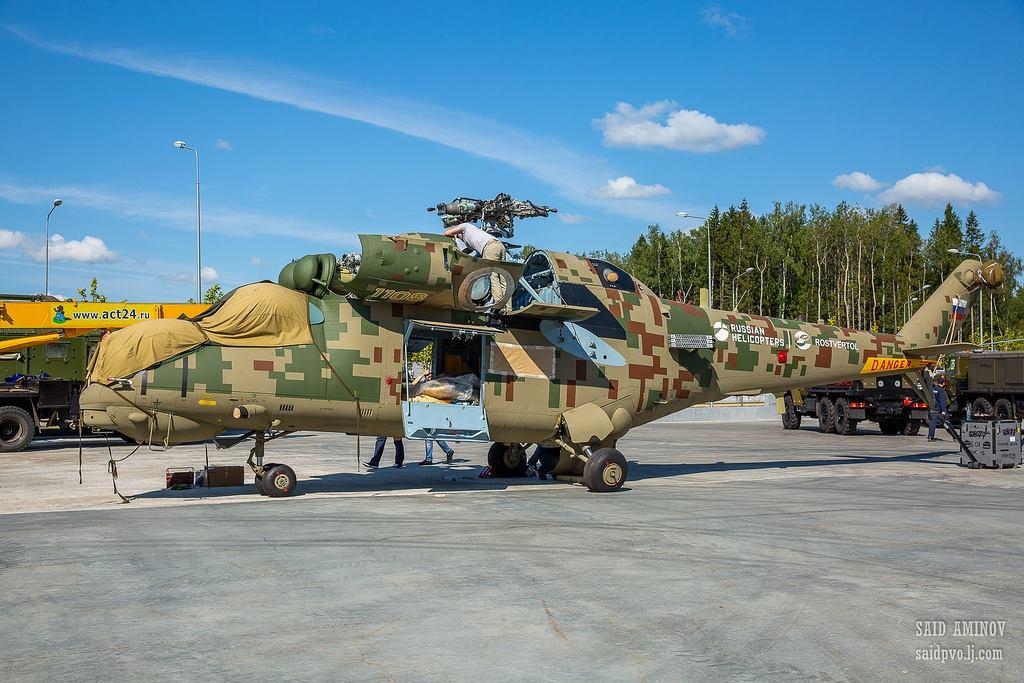 """Army-2018: Versões atualizadas do Mi-35 armadas com mísseis """"Igla-S"""""""