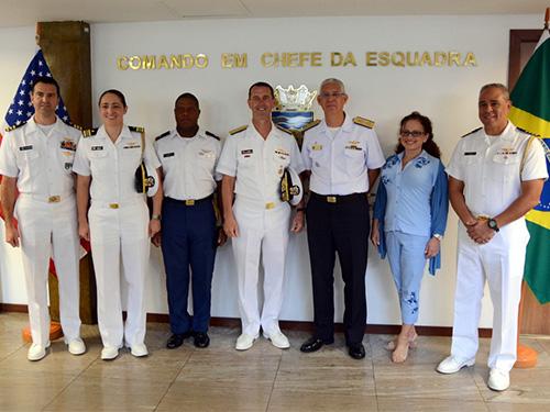 """Plano Brasil/MB e USN/Relações Bilaterais (Parte 02)/Análise: """"Comando em Chefe da Esquadra recebe visita de Comitiva do Comandante de Operações Navais dos EUA"""""""