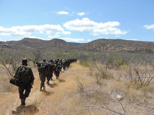 ADSUMUS:  Grupamento de Fuzileiros Navais de Natal (GptFNNa) realiza exercício  ADEST-Caatinga na cidade de Lajes-RN