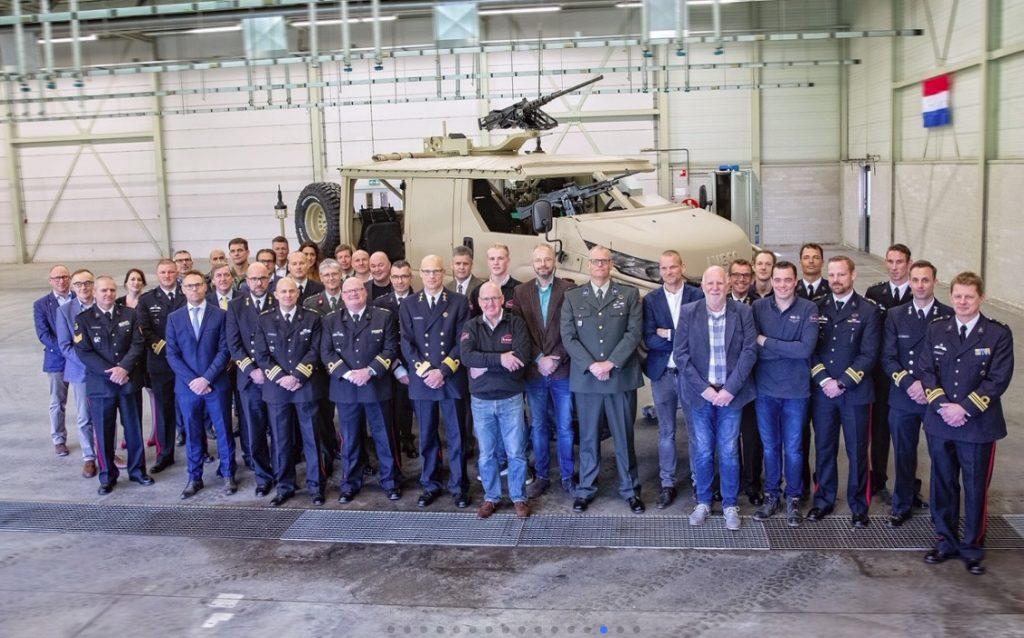 Corpo de Fuzileiros Navais da Holanda recebe novos veículos Anaconda 4×4.