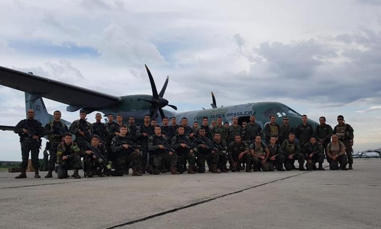 Força Conjunta de Operações Especiais desenvolve exercício militar durante a Operação Atlântico V